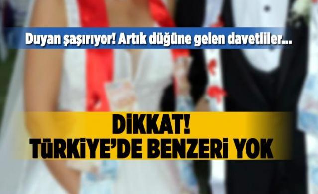 Duyan şaşırıyor! Artık düğüne gelen davetliler... Dikkat! Türkiye'de benzeri yok...