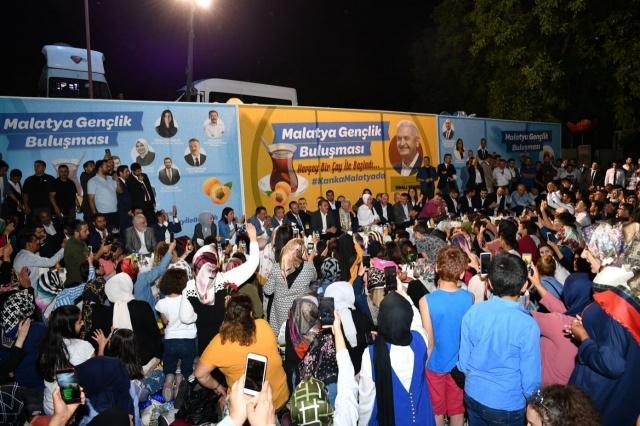AK Parti İzmir Milletvekili Binali Yıldırım, Malatya'daki temasları kapsamında, Battalgazi Çınar Park'ta yaklaşık 5 bin gençle bir araya geldi. Yıldırım, istek üzerine Cumhurbaşkanı Recep Tayyip Erdoğan'ı telefonla arayarak gençlerle görüştürdü. Yıldırım'ın Erdoğan'ı telefon reheberine kaydediş şekli dikkatlerden kaçmadı.