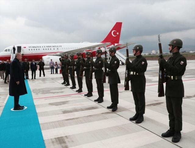 Türkiye Cumhurbaşkanı Recep Tayyip Erdoğan, Kahramanmaraş'a geldi.