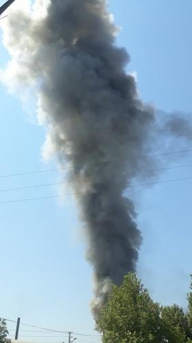 Kahramanmaraş'ta bir fabrikada yangın çıktı.
