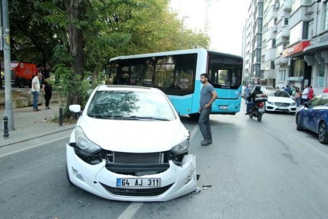Kontrolden çıkan özel halk otobüsü korku saçtı! 2 yaralı