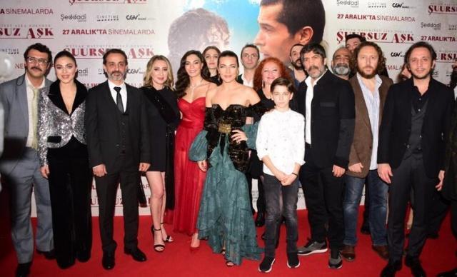 Başrollerini İsmail Hacıoğlu, Ebru Şahin ve Burcu Kara'nın paylaştığı ''Şuursuz Aşk'' filminin galası önceki akşam Özdilek AVM'de yapıldı.