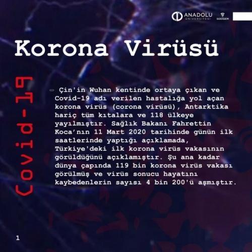 Anadolu Üniversitesi Sosyal Medya ve Dijital Güvenlik Eğitim, Uygulama ve Araştırma Merkezi (SODİGEM) bilim kurulu tarafından korona virüsü tehdidine karşı alınması gereken dijital önlemleri açıklandı.