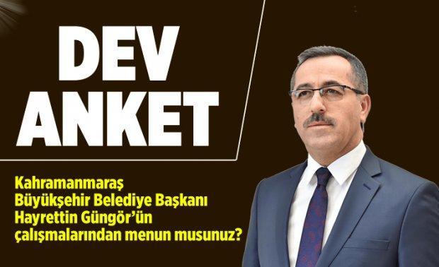 Kahramanmaraş Büyükşehir Belediye Başkanı Hayrettin Güngör'den memnun musunuz?