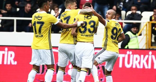 Fenerbahçe, Malatya'da 2 gol attı, 3 puan aldı