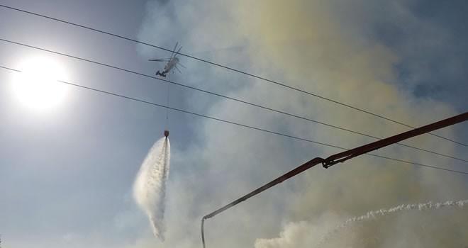 Kahramanmaraş'ta fabrika yangını... Gece saatlerinde başlayan yangın söndürülemiyor
