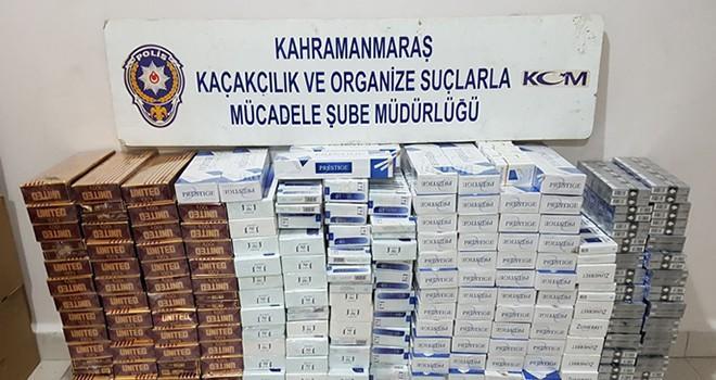 Kahramanmaraş'ta 2 bin 50 paket kaçak sigara ele geçirildi