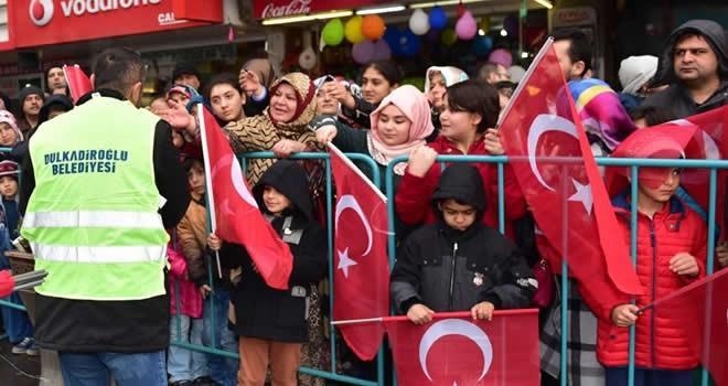 Dulkadiroğlu'ndan 12 Şubat kahramanları anısına 12 bin Türk Bayrağı