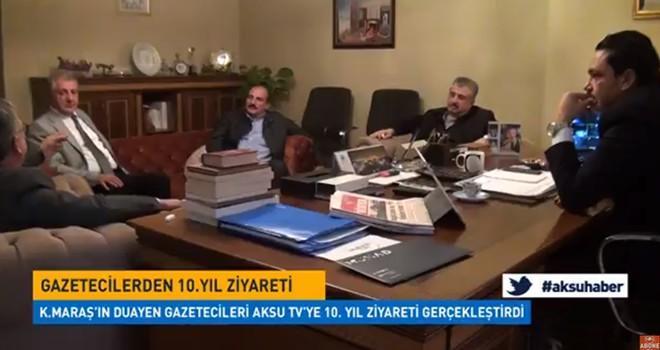 Gazetecilerden Aksu Tv'ye 10. yıl özel ziyareti