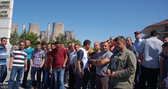 Kahramanmaraş'ta işçiler eylem yaptı