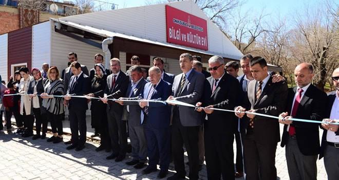 Onikişubat'ta Bilgi ve Kültür Evleri açıldı