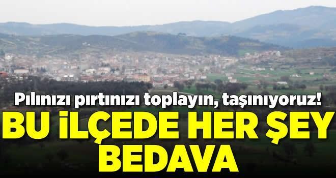 Bursa'nın o ilçesinde her şey bedava
