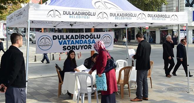Dulkadiroğlu Belediyesi vatandaşa soruyor