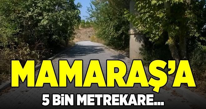 Mamaraş'a beş bin metrekare parke