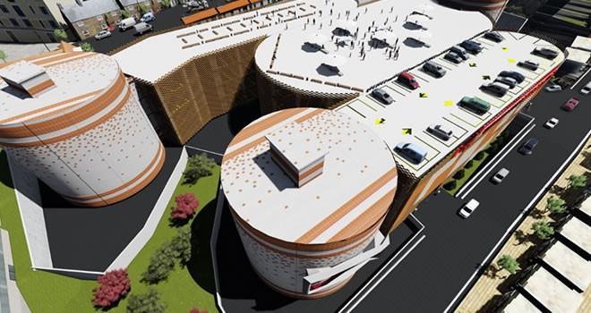 Kahramanmaraş'ta çok katlı otopark inşaatı devam ediyor