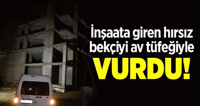 Adana'da inşaata giren hırsız, bekçiyi av tüfeğiyle vurup kaçtı