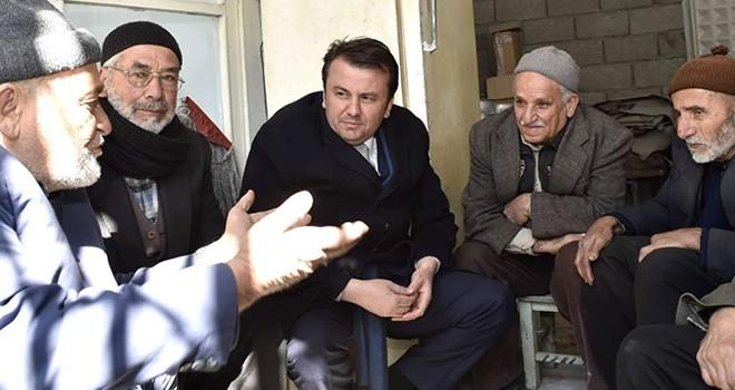 Başkan Erkoç Demirciler Çarşısını ziyaret etti