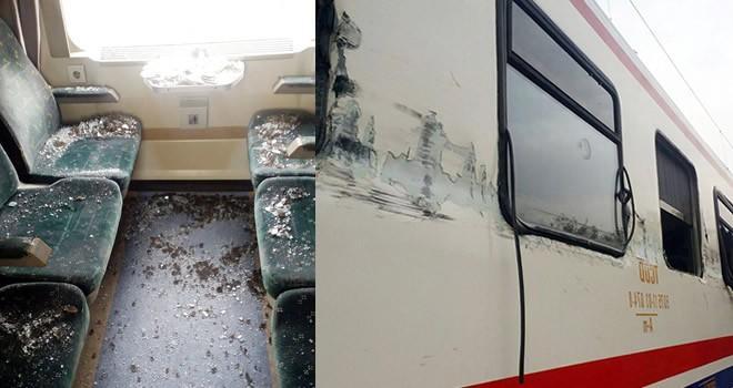 Yolcu treniyle hafriyat kamyonu çarpıştı !