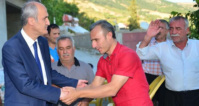 Milletvekili Kılıç ve Başkan Okay Dulkadiroğlu'nun kırsal mahallelerini ziyaret etti
