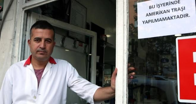 Kahramanmaraş'tan ABD'ye tepki: Amerikan tıraşı yasaklandı