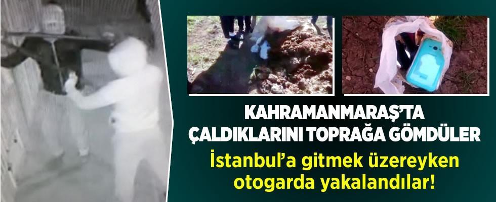 Kahramanmaraş'ta çaldıklarını toprağa gömen 2 kişi otogarda yakalandı