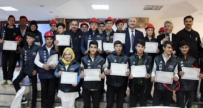 AKMOD gönüllüleri sertifikalarını aldı