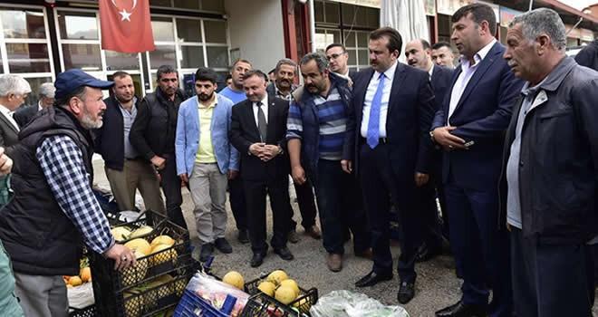 Başkan Erkoç Elbistan Halinde incelemelerde bulundu