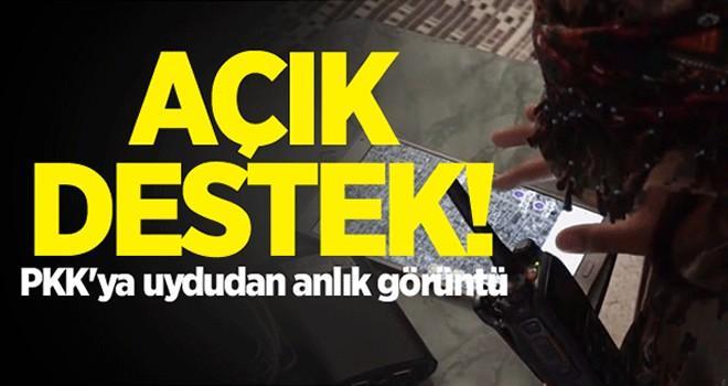 Açık destek! PKK'ya uydudan anlık görüntü
