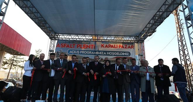 Afşin'de Kapalı Semt Pazarı ve Asfalt Plenti açıldı