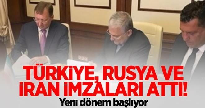 Türkiye, Rusya ve İran imzaları attı! Yeni dönem başlıyor