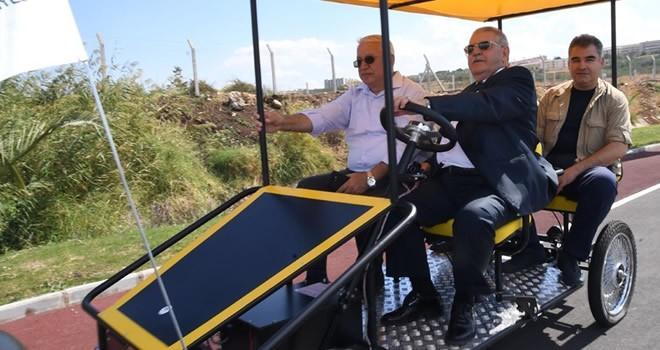 Başkan Mahçiçek 'Bisiklet ve Yürüyüş Yolu'nda incelemelerde bulundu