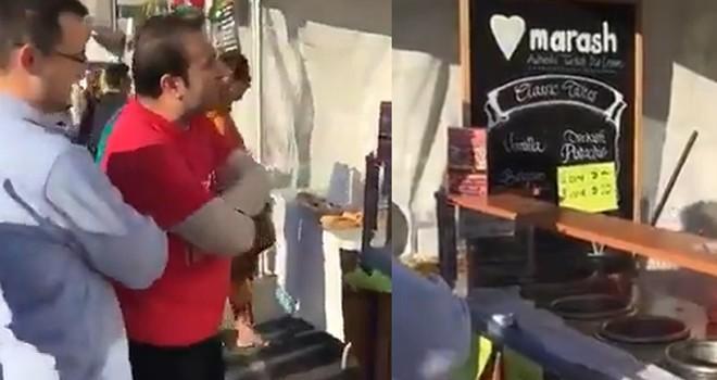 ABD'de fetö dondurma satarken görüntülendi! Türk vatandaşların sert tepkisi