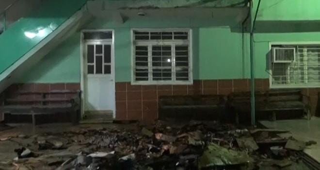 Yusuflar Mahallesi Tekke Yeşil Camii'nde korkutan yangın