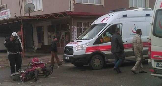 Kahramanmaraş'ta otomobille motosiklet çarpıştı