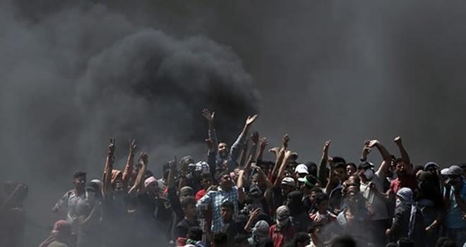 Gazze'de ABD büyükelçiliği ayaklanması! Onlarca ölü, yüzlerce yaralı var