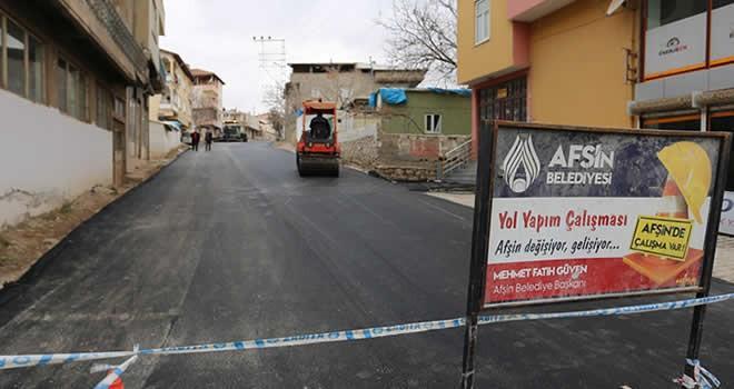 Afşin Belediyesi Asfalt Çalışmalarını Sürdürüyor...