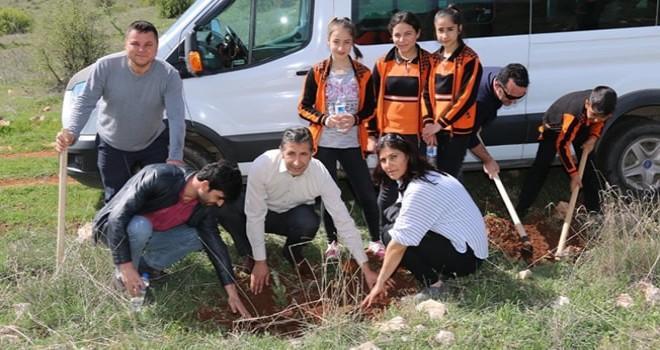 Pazarcık'ta ''Şehitler Hatıra Ormanında'' fidan dikimi gerçekleşti