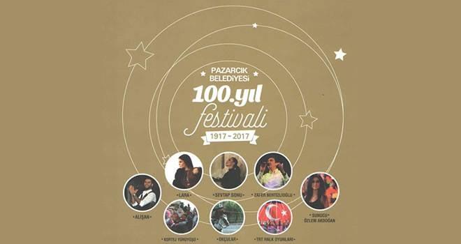 Pazarcık Belediyesi'nde 100. Yıl festivali