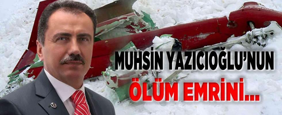 BBP'nin Merhum Genel Başkanı Muhsin Yazıcıoğlu'nun ölüm emri Gülen'den