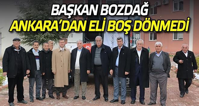 Başkan Bozdağ Ankara'dan eli dolu döndü!