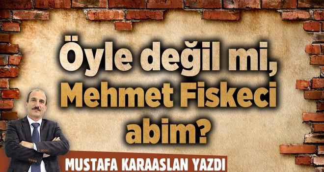 Öyle değil mi, Mehmet Fiskeci abim?