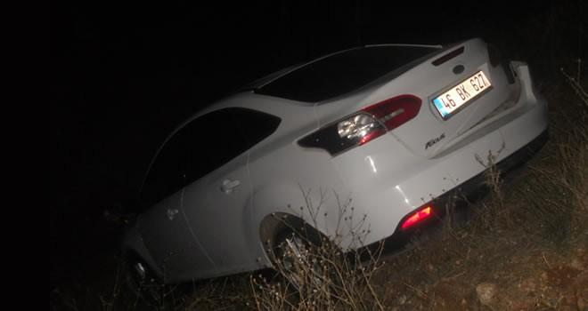 Kahramanmaraş'ta kaza ! Otomobil şarampole uçtu !