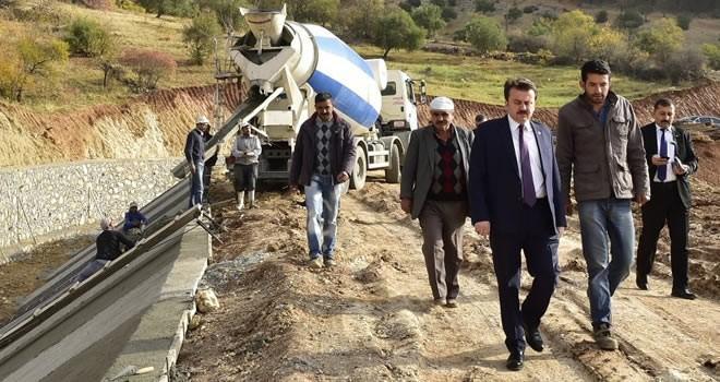 Başkan Erkoç'tan kuşaklama kanalında inceleme