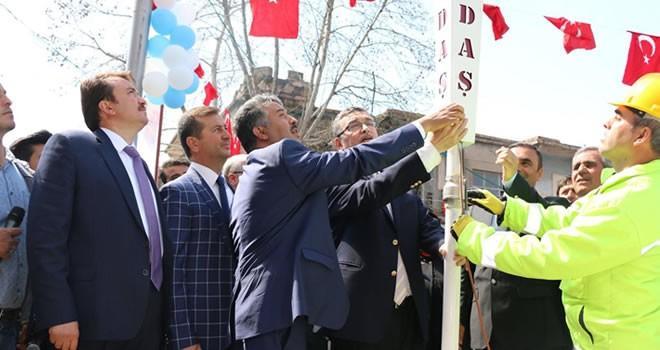 Pazarcık'ta doğalgaz açılışı gerçekleşti