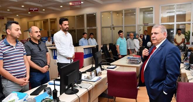 Başkan Mahçiçek, personelle bayramlaştı