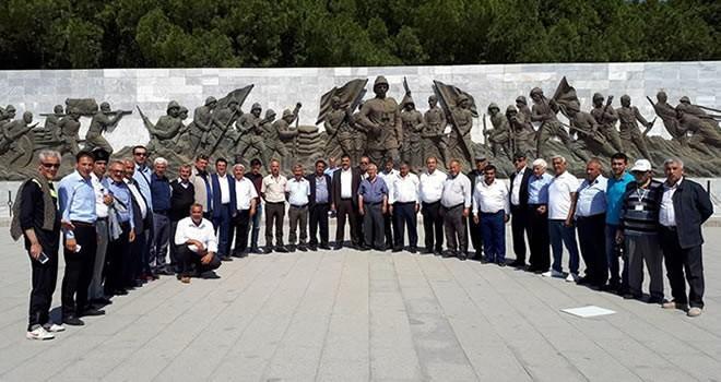 Türkoğlulu muhtarlar Çanakkale Şehitliği'ni gezdi