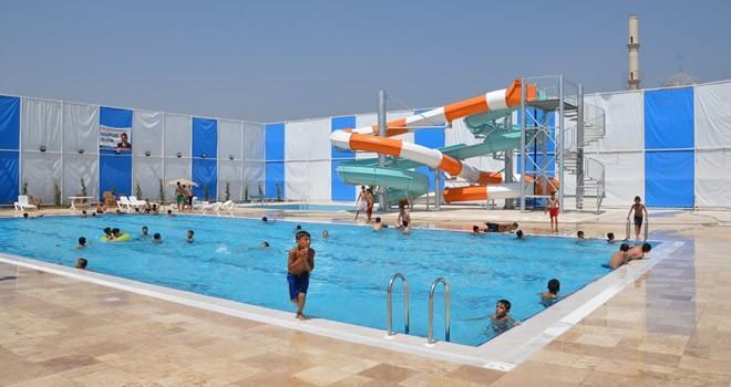Türkoğlu'nun deniz özlemini bu havuzlar gideriyor