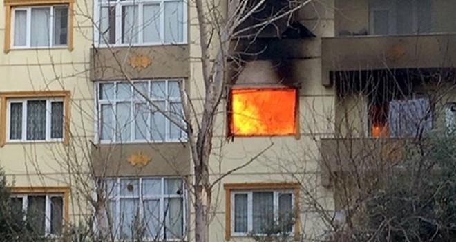 Ev sahibi kirayı isteyince daireyi ateşe verdi!