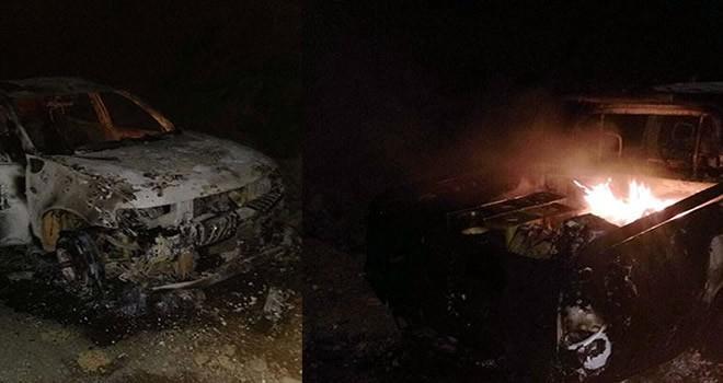 Şırnak'ta PKK'lı teröristlerlerden hain saldırı! Durdurup ateşe verdiler
