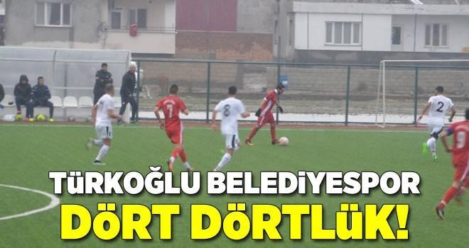 Türkoğlu Belediyespor, Elbistan Belediyespor'u 4-0 mağlup etti